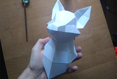 Papercraft. How to make a paper model