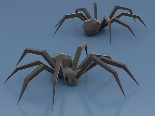 Model Big Spider Spider Papercraft Low Poly Spider Paper Spider